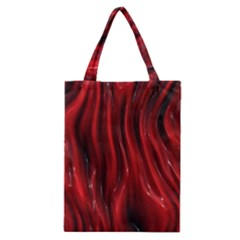 Shiny Silk Red Classic Tote Bags