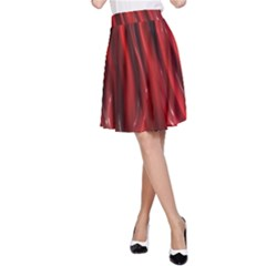 Shiny Silk Red A-Line Skirts
