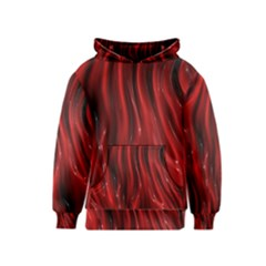 Shiny Silk Red Kid s Pullover Hoodies
