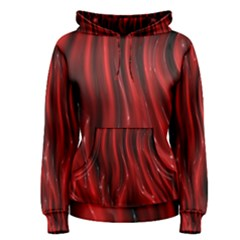 Shiny Silk Red Women s Pullover Hoodies