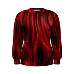 Shiny Silk Red Women s Sweatshirts