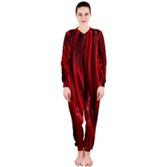 Shiny Silk Red OnePiece Jumpsuit (Ladies)