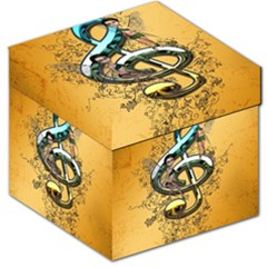 Music, Clef With Fairy And Floral Elements Storage Stool 12