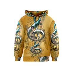 Music, Clef With Fairy And Floral Elements Kids Zipper Hoodies