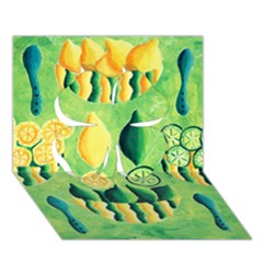 Lemons And Limes Clover 3D Greeting Card (7x5)