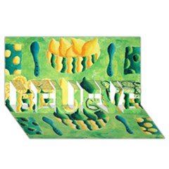 Lemons And Limes Believe 3d Greeting Card (8x4)