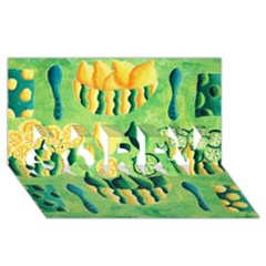 Lemons And Limes SORRY 3D Greeting Card (8x4)