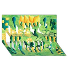 Lemons And Limes Best Wish 3D Greeting Card (8x4)