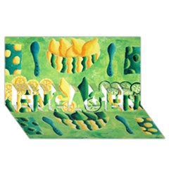 Lemons And Limes ENGAGED 3D Greeting Card (8x4)