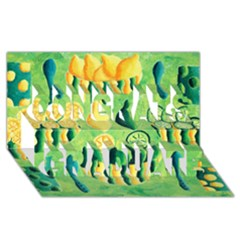 Lemons And Limes Congrats Graduate 3D Greeting Card (8x4)