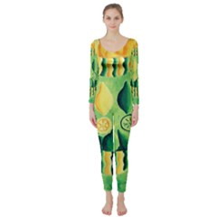 Lemons And Limes Long Sleeve Catsuit