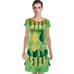 Lemons And Limes Cap Sleeve Nightdresses