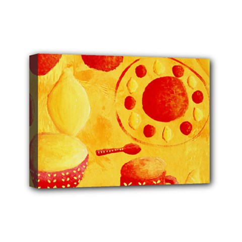Lemons And Oranges With Bowls  Mini Canvas 7  x 5