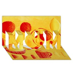 Lemons And Oranges With Bowls  Mom 3d Greeting Card (8x4)