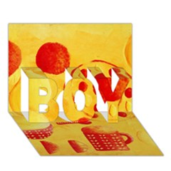 Lemons And Oranges With Bowls  BOY 3D Greeting Card (7x5)