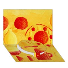 Lemons And Oranges With Bowls  Circle Bottom 3d Greeting Card (7x5)