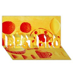 Lemons And Oranges With Bowls  Best Bro 3d Greeting Card (8x4)
