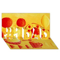 Lemons And Oranges With Bowls  #1 DAD 3D Greeting Card (8x4)