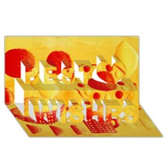 Lemons And Oranges With Bowls  Best Wish 3d Greeting Card (8x4)