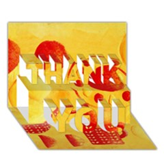 Lemons And Oranges With Bowls  THANK YOU 3D Greeting Card (7x5)