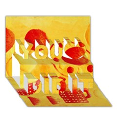 Lemons And Oranges With Bowls  You Did It 3d Greeting Card (7x5)