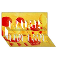 Lemons And Oranges With Bowls  Laugh Live Love 3D Greeting Card (8x4)