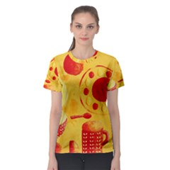 Lemons And Oranges With Bowls  Women s Sport Mesh Tees