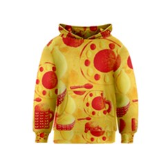 Lemons And Oranges With Bowls  Kid s Pullover Hoodies