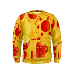 Lemons And Oranges With Bowls  Boys  Sweatshirts