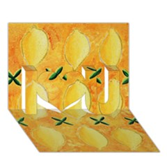 Lemons I Love You 3D Greeting Card (7x5)