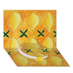 Lemons Circle Bottom 3d Greeting Card (7x5)