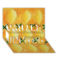 Lemons You Are Invited 3d Greeting Card (7x5)