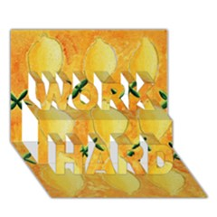 Lemons Work Hard 3d Greeting Card (7x5)