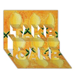Lemons TAKE CARE 3D Greeting Card (7x5)
