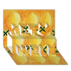 Lemons Get Well 3D Greeting Card (7x5)