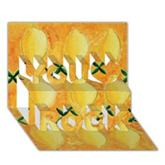 Lemons You Rock 3d Greeting Card (7x5)