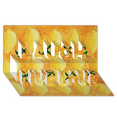 Lemons Laugh Live Love 3D Greeting Card (8x4)