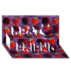 Strawberries And Plums  Best Friends 3D Greeting Card (8x4)