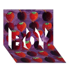 Strawberries And Plums  BOY 3D Greeting Card (7x5)