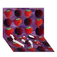 Strawberries And Plums  LOVE Bottom 3D Greeting Card (7x5)