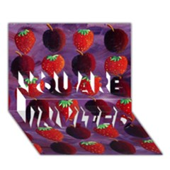 Strawberries And Plums  You Are Invited 3d Greeting Card (7x5)