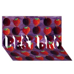 Strawberries And Plums  BEST BRO 3D Greeting Card (8x4)