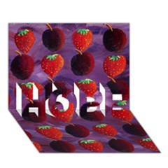 Strawberries And Plums  HOPE 3D Greeting Card (7x5)