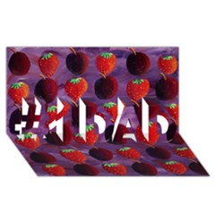Strawberries And Plums  #1 DAD 3D Greeting Card (8x4)