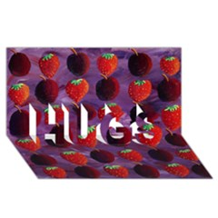 Strawberries And Plums  HUGS 3D Greeting Card (8x4)