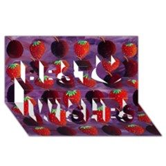 Strawberries And Plums  Best Wish 3D Greeting Card (8x4)