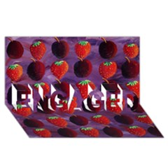 Strawberries And Plums  ENGAGED 3D Greeting Card (8x4)