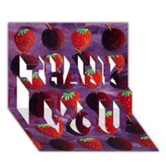 Strawberries And Plums  THANK YOU 3D Greeting Card (7x5)