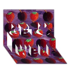 Strawberries And Plums  Get Well 3d Greeting Card (7x5)