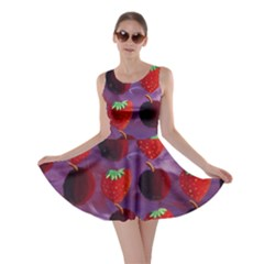 Strawberries And Plums  Skater Dresses